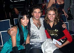 Saida Amir, Russian singer Avraam Russo and model.