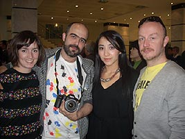 British fashion designers Bruno Basso and Christopher Brook (BASSO & BROOK) and Saida Amir
